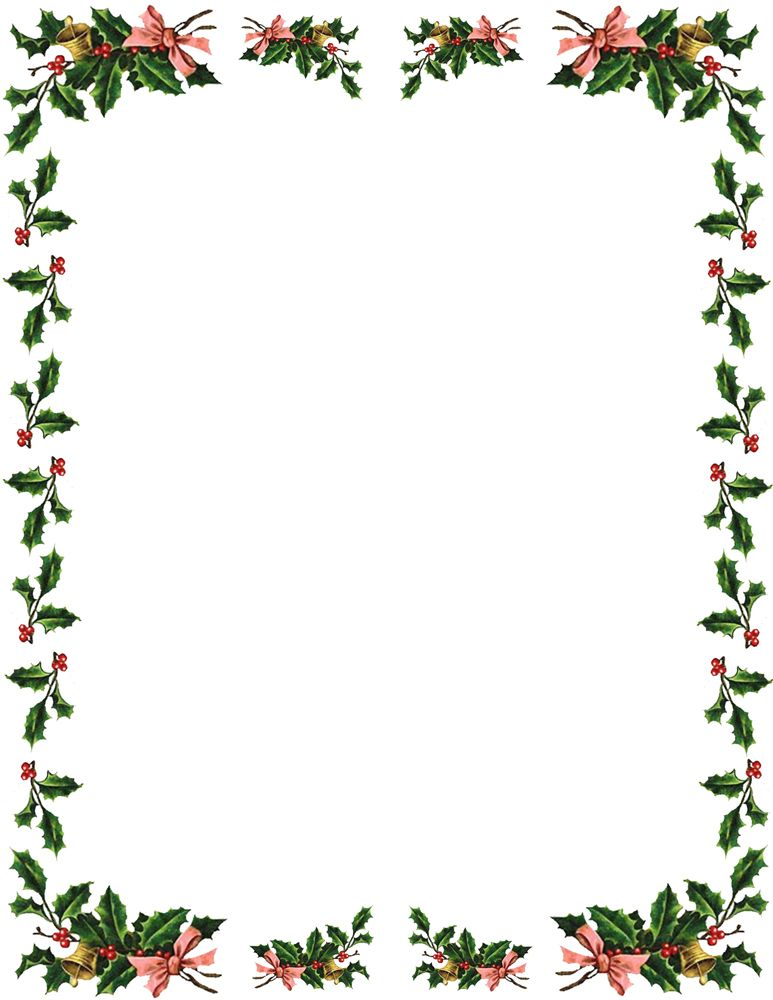 Christmas Borders And Frames Clipart Best Karácsony Christmas - microsoft word christmas letter template