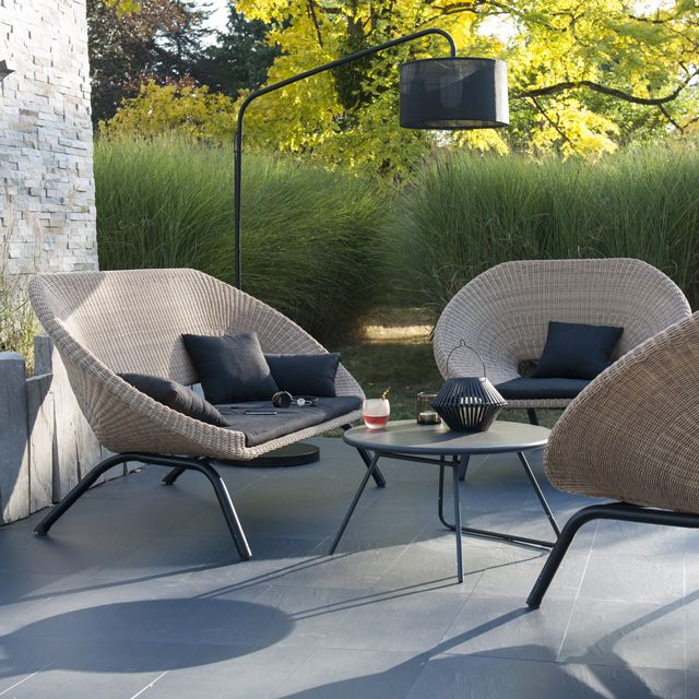 Salon de jardin en rotin, Collection Loa - CASTORAMA 1065e | jardin ...