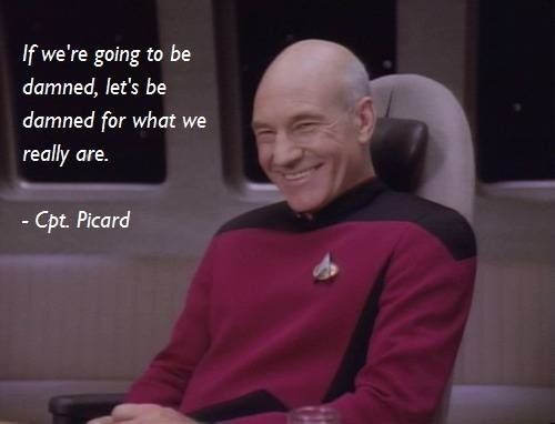 Encounter At Farpoint Star Trek Quotes Picard Star Trek Star