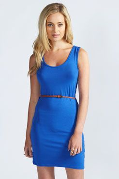 Nina Belted Racer Bodycon Dress - I love this