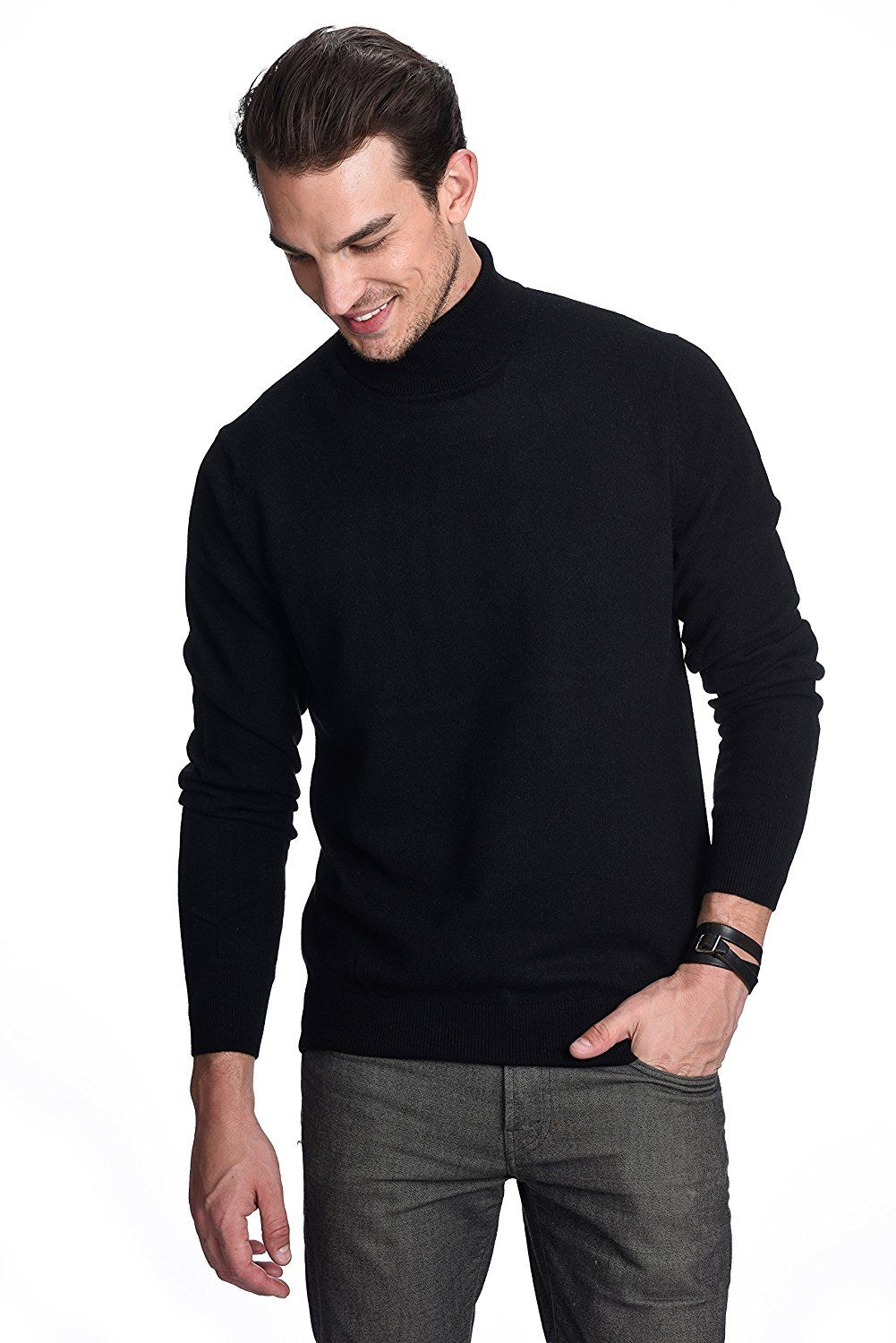 1776446e7ac State Cashmere Men s 100% Pure Cashmere Turtleneck Long Sleeve Pullover  Sweater at Amazon Men s Clothing