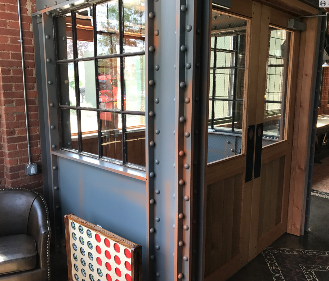 This Entryway Is Made Out Of Pvc Plastic Steel Beams Container House Metal Beam