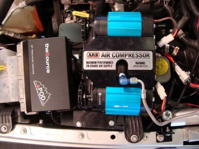 #MORE has teamed up with #ARB and designed a mounting bracket to fit under your hood to mount your ARB #CKMTA12 Twin Motor/Dual Cylinder On-Board Air Compressor. The M.O.R.E. bracket will work with the #sPOD unit, and even has mounting holes for the ARB manifold tank, which also allows you to use both your batteries on your M.O.R.E. Dual Battery Tray! Fits 2007 Jeep JK Wranglers to current, visit mountainoffroad.com/ for more information! #Jeepmore #Jeeplife #jeeplove #offroad #4x4