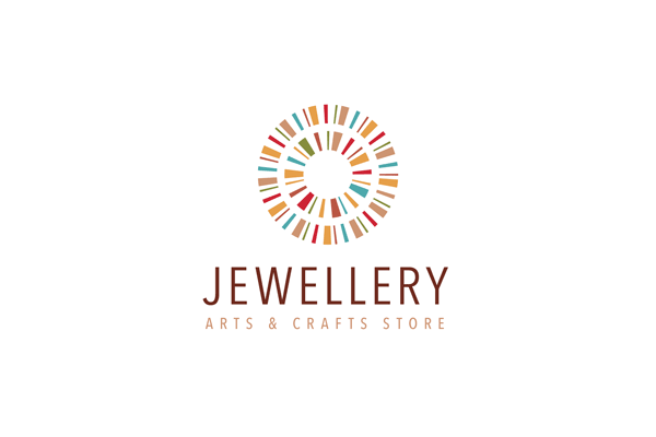 jewellery logo design template circle logos