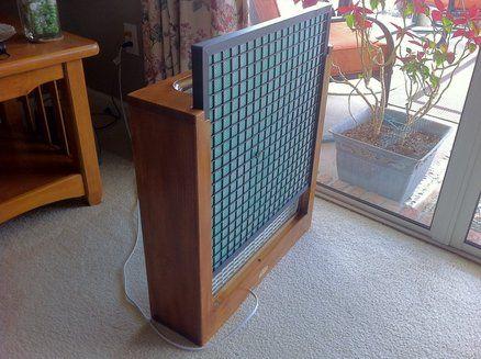 Simple Fan Fillter Box W Allergy Filter Diy Wood Projects Diy Air Purifier Workshop Organization Tools