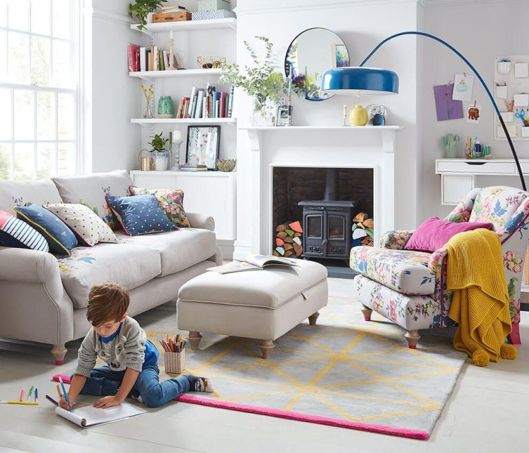 5 Practical Tips To Make A Living Room For Child Friendly Ideas In 2021 Kid Friendly Living Room Striped Sofa Sofa Armchair