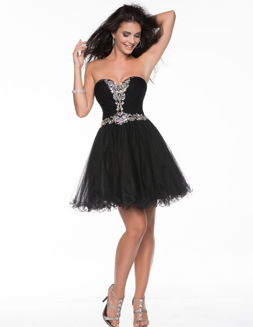 Black dress for prom short | Color dress | Pinterest | Unique ...