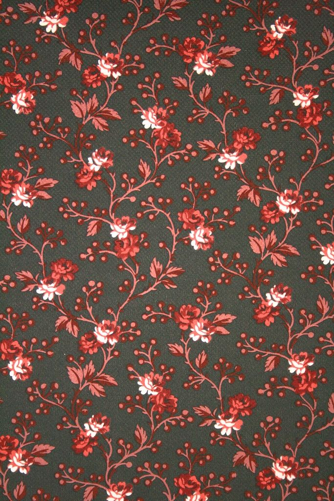 Vintage Floral Wallpaper With Small Pattern Of Green Flowers Vintage Floral Wallpapers Wallpapers Vintage Red Flower Wallpaper