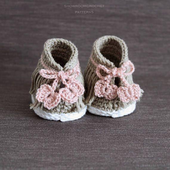 Crochet PATTERN. Dakota baby sneakers | Crochet baby | Pinterest ...