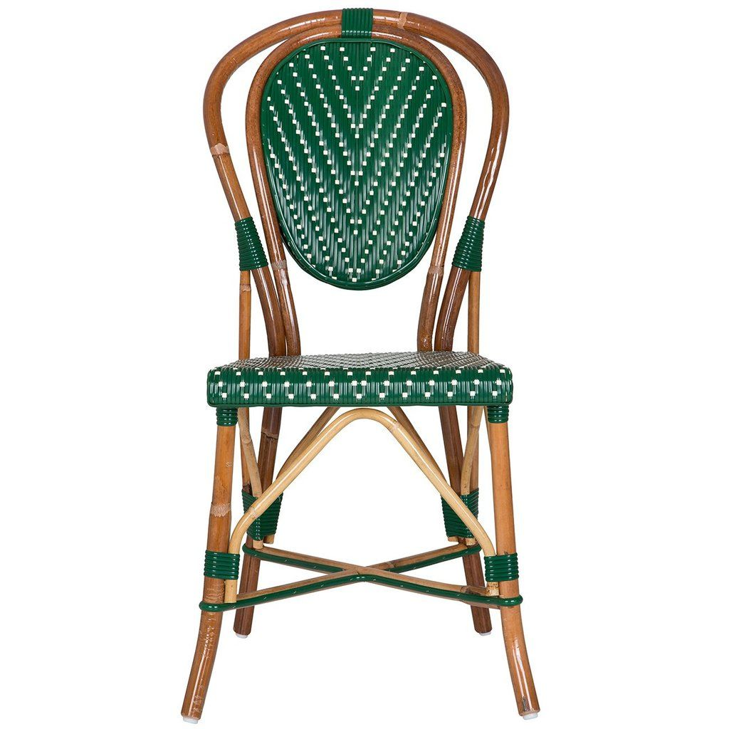 Outdoor French Bistro Chairs Green And Cream Mediterranean Bistro Chair L In 2019 Nyc