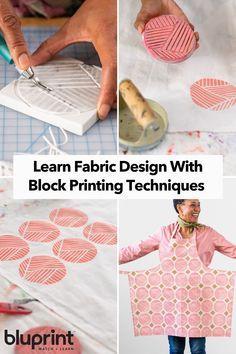 Fabric Design: Block Printing   Bluprint -   19 diy Paper print ideas