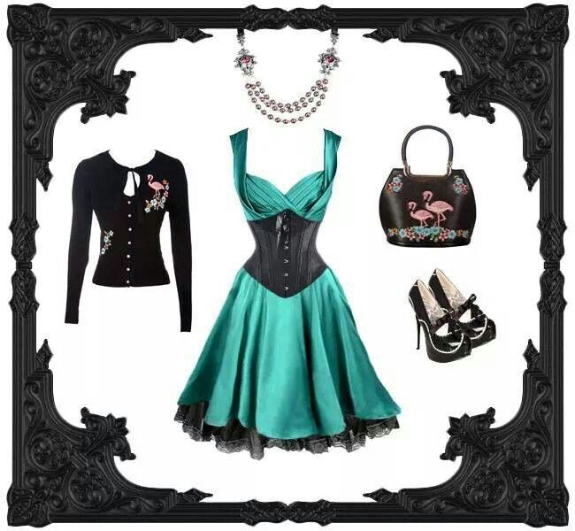 Love the shoes and corset idea with this dress!
