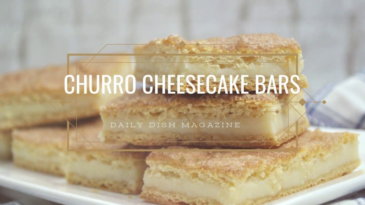Easy Churro Cheesecake Bars #churrocheesecakebars These churro cheesecake bars are a cinch to make using ready-made dough and a few simple ingredients. Your family will LOVE them and think you worked all day in the kitchen for this treat! #churrocheesecakebars