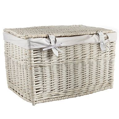 White small wicker trunk - Laundry storage u0026 bins - Bathroom accessories - Home u0026 furniture  sc 1 st  Pinterest & White small wicker trunk - Laundry storage u0026 bins - Bathroom ...