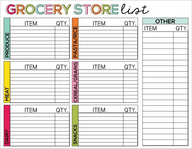 printable food calendar