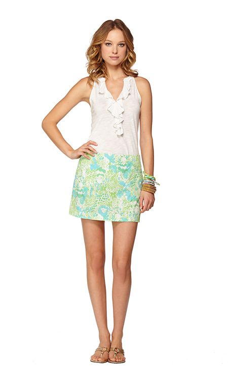January Skort in Limeade Its A Zoo