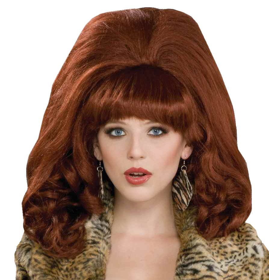 Natural Red 60s Glam Adult Wig