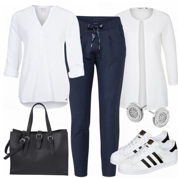 SchickeSportlichkeit Damen Outfit - Komplettes Freizeit Outfit günstig kaufen | FrauenOutfits.de #businessmodedamen