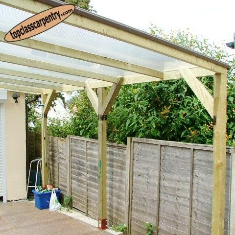 Car port design manufacture and installation by top class for Carport fence ideas
