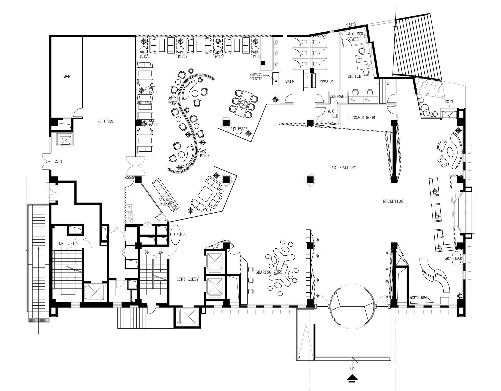 Gallery Of Skytel Panorama 24 Hotel Floor Plan Restaurant Floor Plan Office Layout Plan
