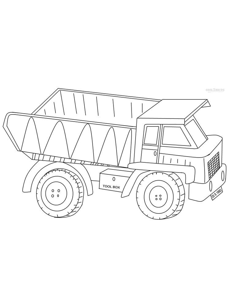 Coloring Pages Of A Dump Truck Dump Truck Is A Tool Used To Move