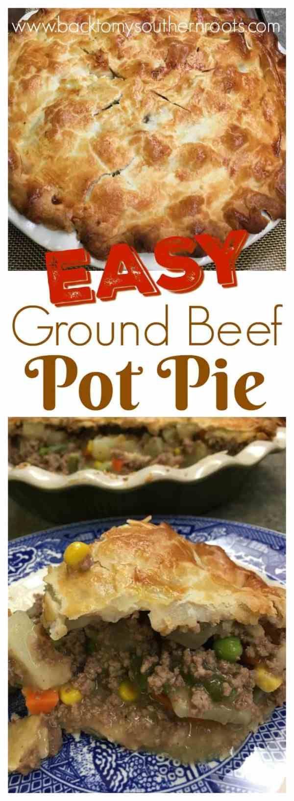 Easy Ground Beef Pot Pie images