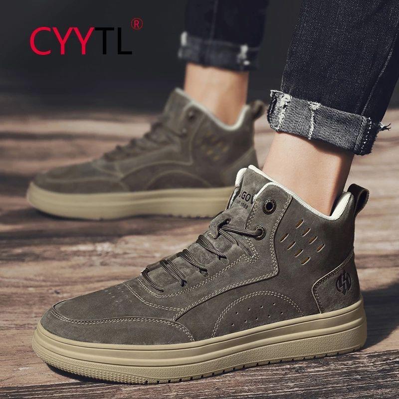 US $29.71 45% OFF|CYYTL Trending Men's High top Le