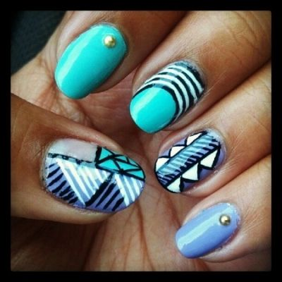 Funky Tribal Nails