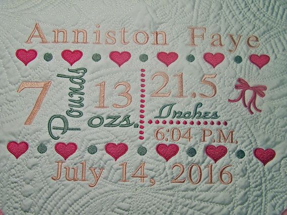 A personalized baby quilt is one of the most cherished baby gifts a personalized baby quilt is one of the most cherished baby gifts you can give the family of a new baby by having the babys name on the quilt negle Image collections