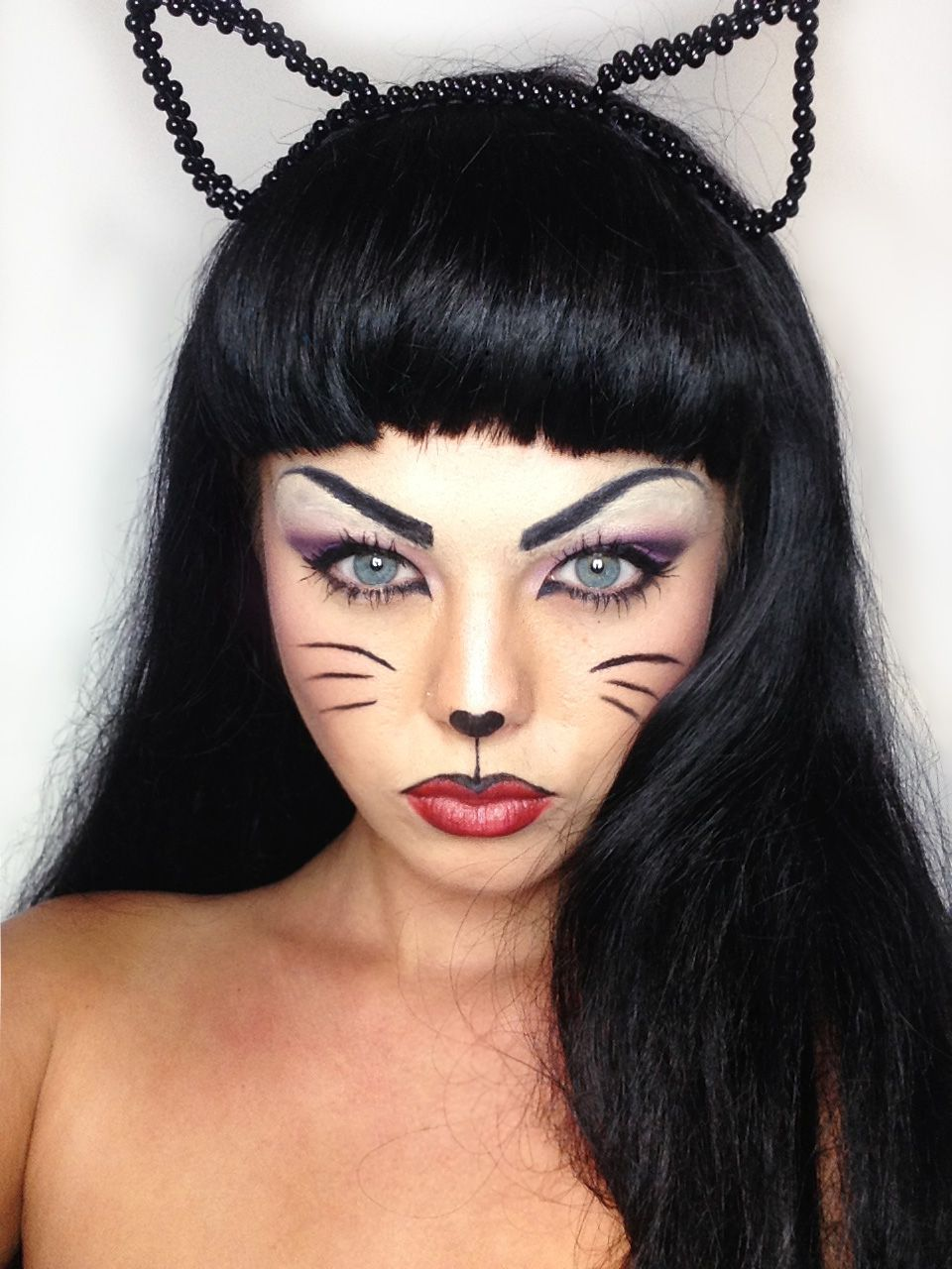 Mia. My cat makeup for halloween Twitter- @miakennington Instagram ...