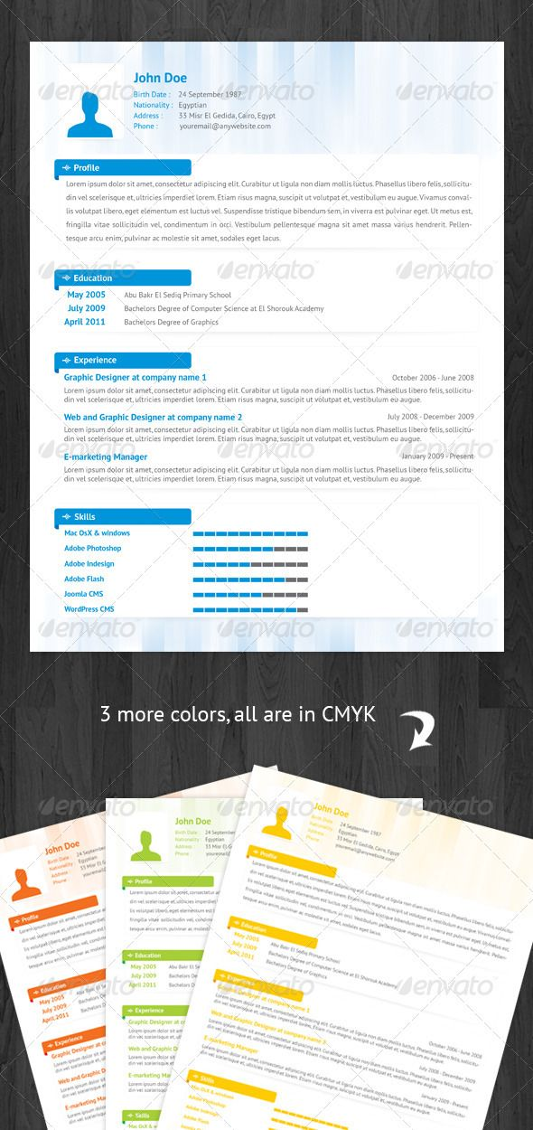 Great Resume Template  WhatS Your Brand Color  Document Design