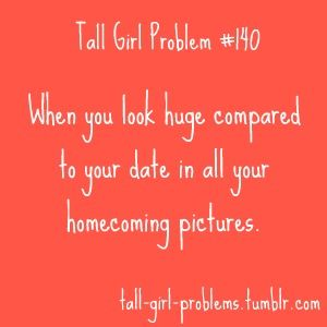 Dating a taller girl in high school