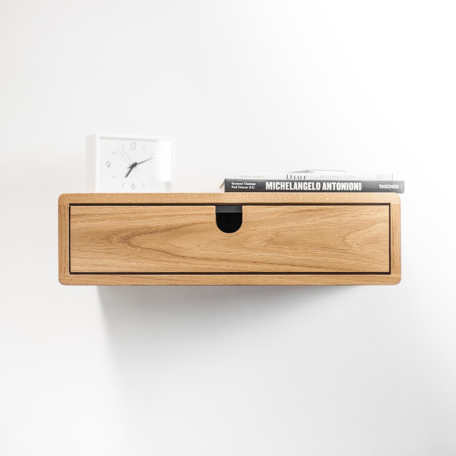 Floating Nightstand With 1 Drawer In Oak Scandinavian Design Floating Nightstand Floating Drawer Scandinavian Design