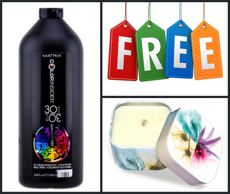 Matrix Color Insider 30 Vol Oil Cream Developer 32 Oz Free Candle