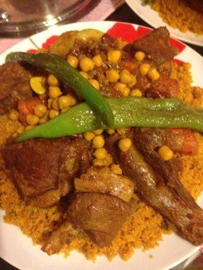 Couscous mouton recettes de viande d 39 agneau pinterest couscous - Recette cuisine couscous tunisien ...