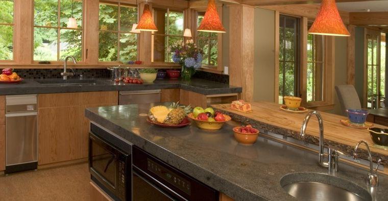 Encimeras de cocina tipos de materiales y consejos casa - Materiales encimeras cocina ...