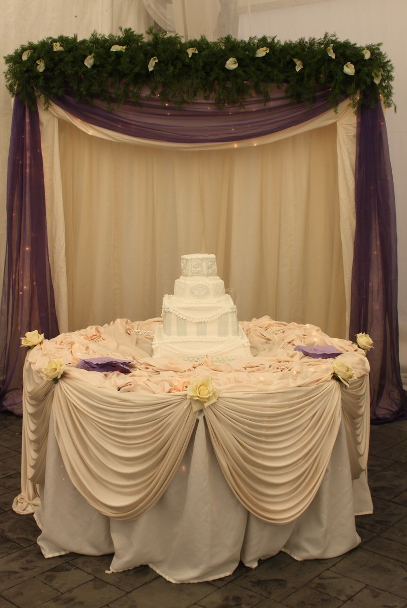 Draping behind cake table. this one is pretty too. | wedding 2 in ...