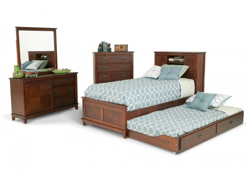 Chadwick 8 Piece Trundle Bedroom Set With Twin Bookcase Bed Kids