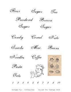 Freebie Pantry Labels for you to use, just print and cut