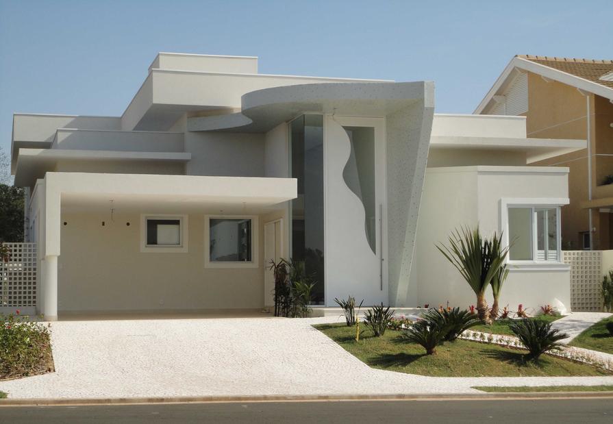 40 fachadas de casas modernas e esculturais maravilhosas for Exterior casas modernas