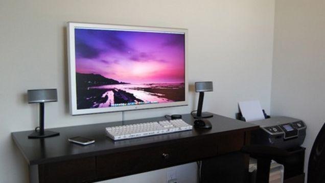 Wall Mount Your Flatscreen Monitor Wall Mounted Tv Wall Mount Monitors Flat Screen