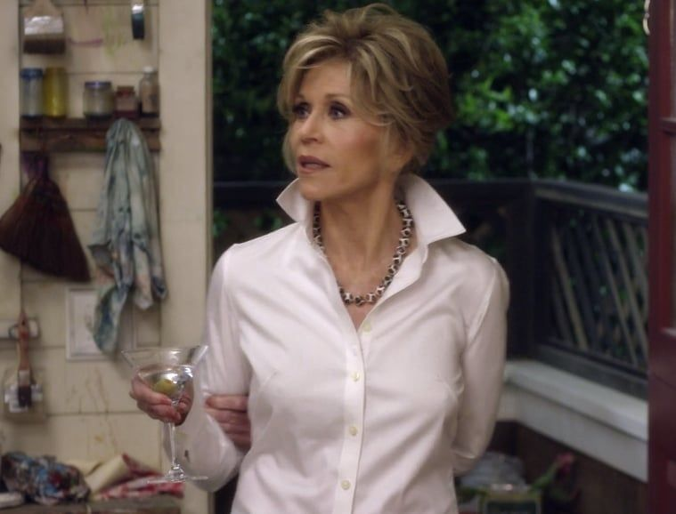 Grace from grace and frankie is my straightup style icon