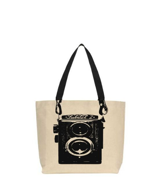 Tote Bag Vintage Camera Canvas Tote Bag with Black Straps Camera Tote Bag Camera Purse Camera Bag #camerapurse