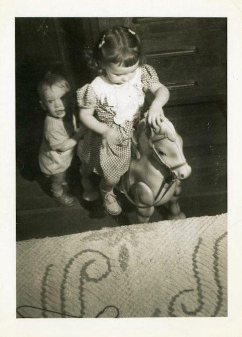Vintage Photo Sharing Mr. Horsey Snapshot Antique by DandRPhotos
