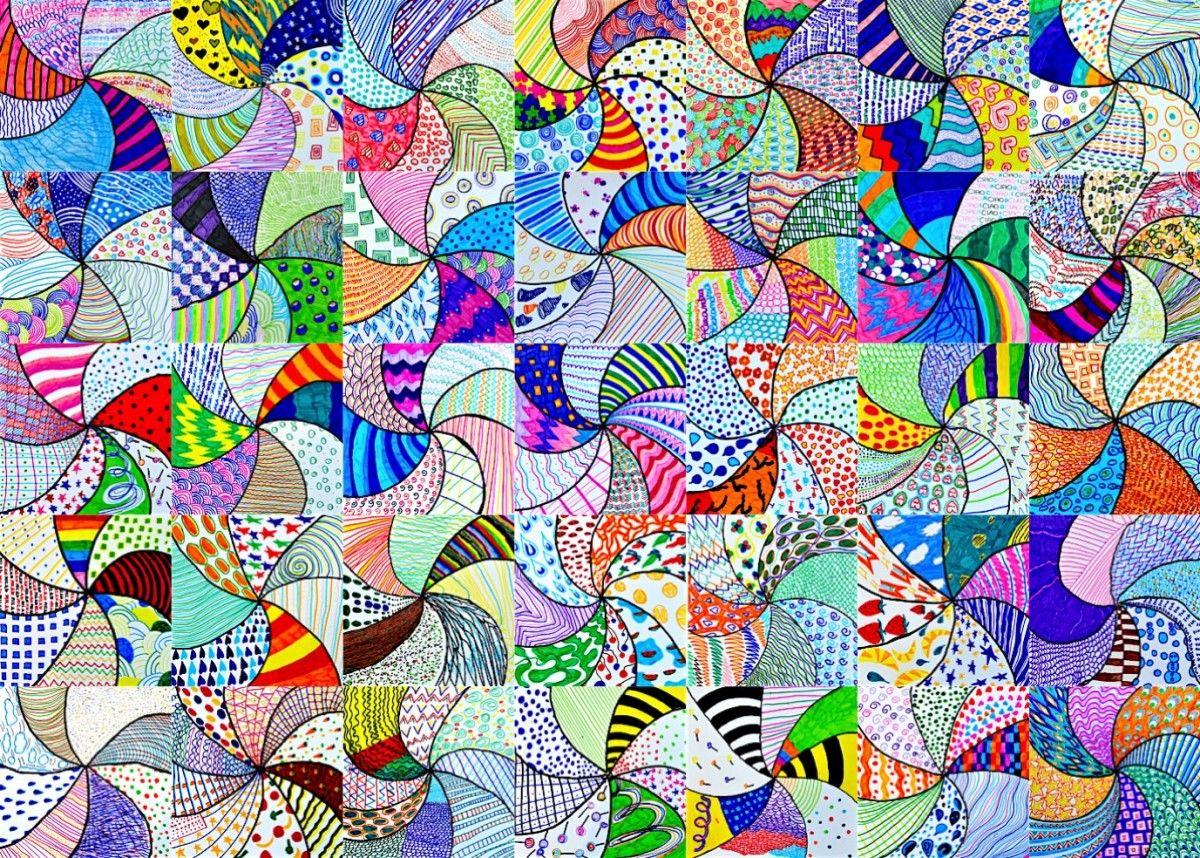 Vortice di texture penna libert e disegno for Una decorazione e formata da cinque rombi simili