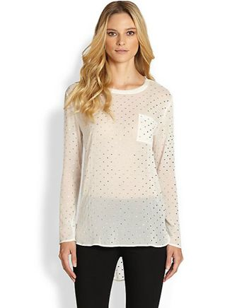 DKNY Allover Stud Blouse