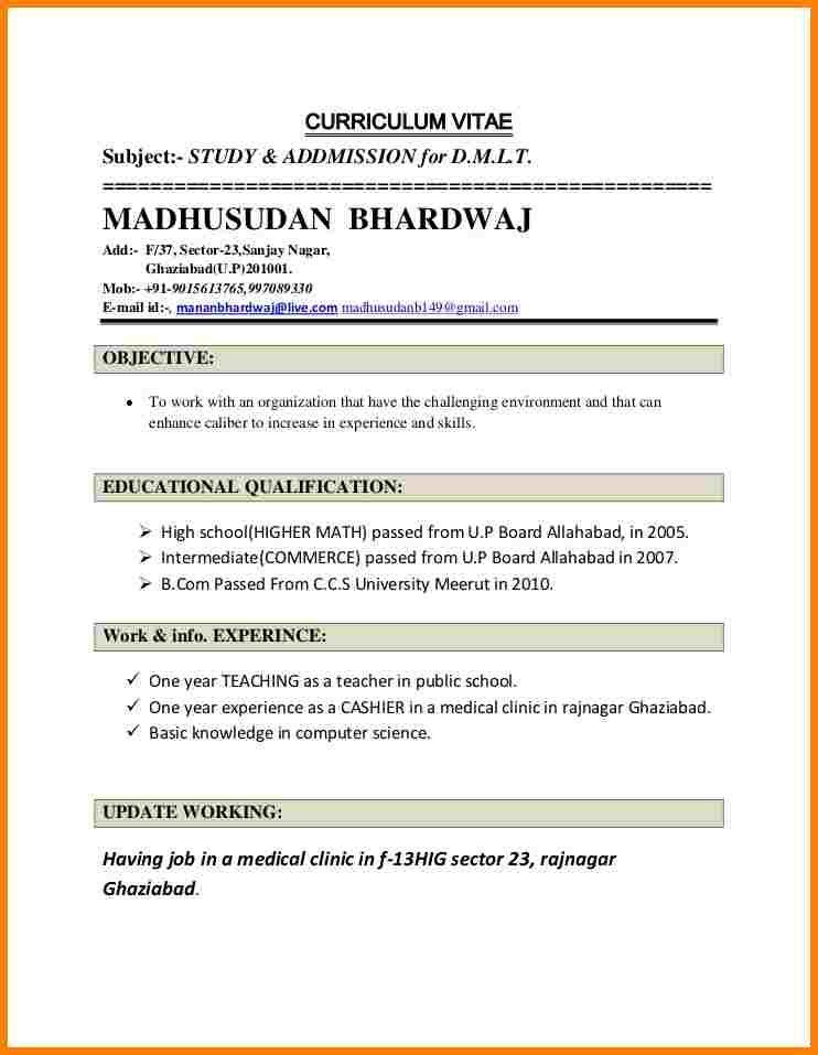 resumeformatforteachersjobmadhusudanbhardwajresume