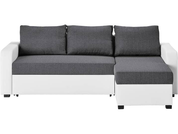 Ecksofa Grau Weiss Kunstleder Webstoff Cassy Grau Masse Cm Couch Home Home Decor