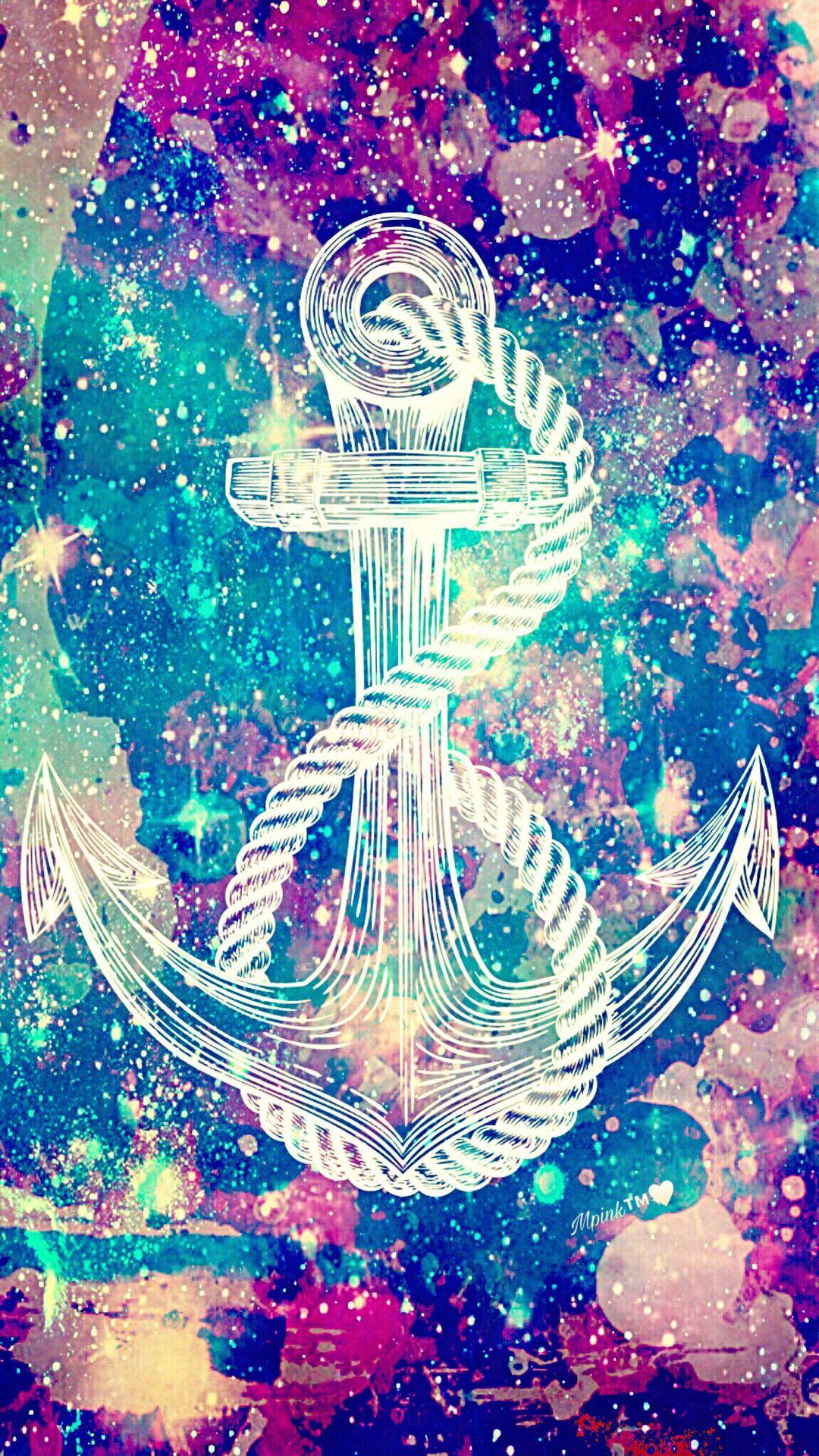 Glass Anchor Galaxy Wallpaper Androidwallpaper Iphonewallpaper Wallpaper Galaxy Sparkle Glitter Loc Anchor Wallpaper Nautical Wallpaper Galaxy Wallpaper
