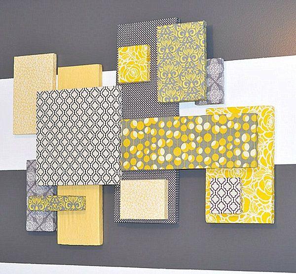 20 einfache handgemachte Wand Kunst Ideen -    wohnideennde - gelbe dekowand blume fr wohnzimmer